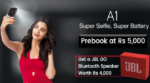 Pre-booking the Gionee A1 started at sastodeal and exclusive Gionee showrooms
