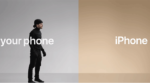 "Apple's ""switch to Apple"" advertisements, pushing customers to switch to iPhone."