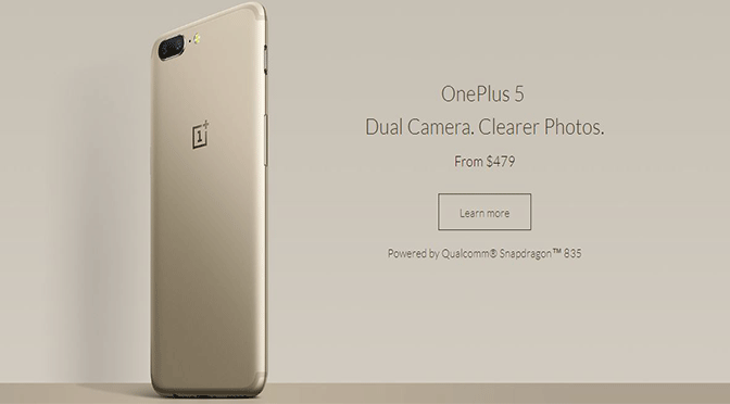 OnePlus 5 Soft Gold