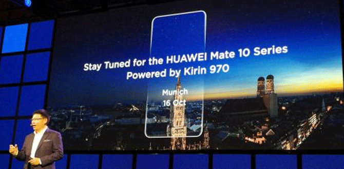 Huawei unveils latest flagship processor HiSilicon Kirin 970.