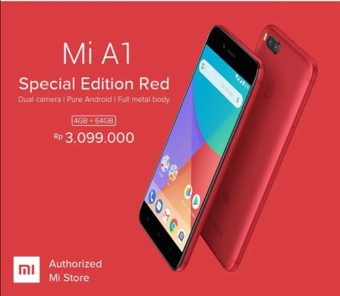 Xiaomi Mi A1 Special Edition Red variant is official in