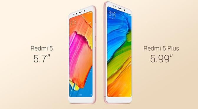 Xiaomi Redmi 5 and Redmi 5 Plus Price