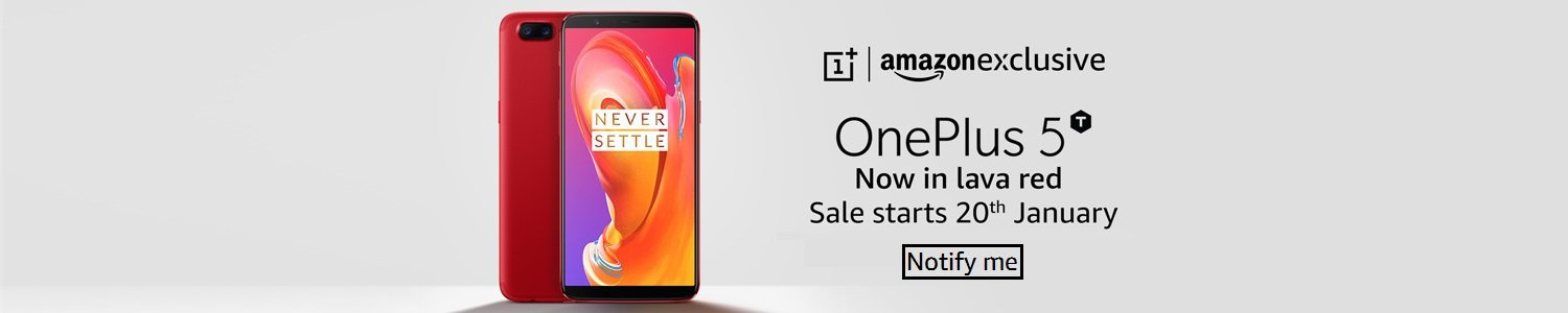 OnePlus 5T Lava Red variant pre-booking started in India